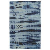 Hand-tufted Artworks Denim Tie-dye Rug - 9'6 x 13'
