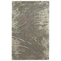 Hand-tufted Artworks Brown Waves Rug (8' x 11')