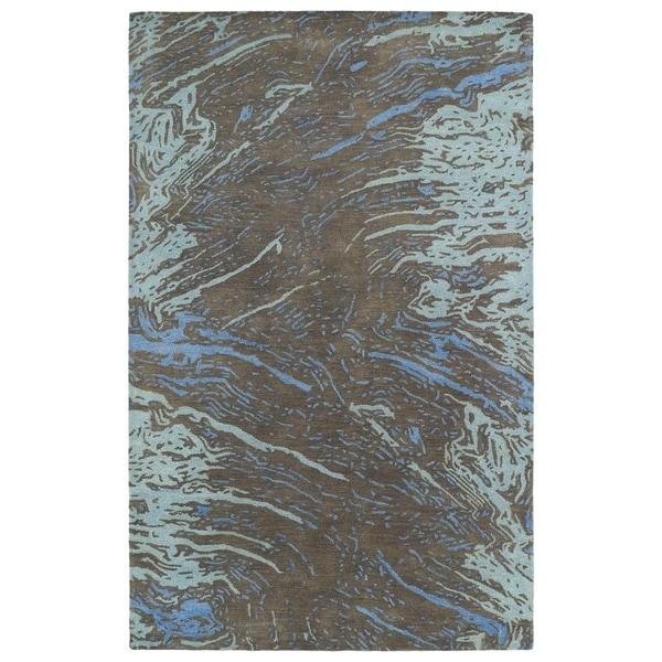 Hand-tufted Artworks Chocolate Waves Rug - 2' x 3'