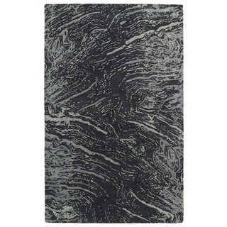Hand-tufted Artworks Charcoal Waves Rug (9'6 x 13')