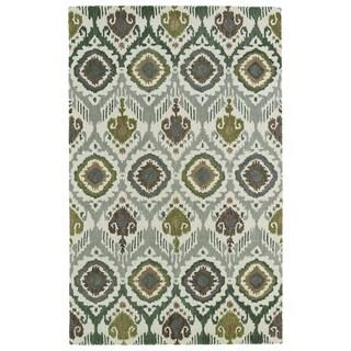 Hand-tufted de Leon Boho Green Rug (8' x 10')
