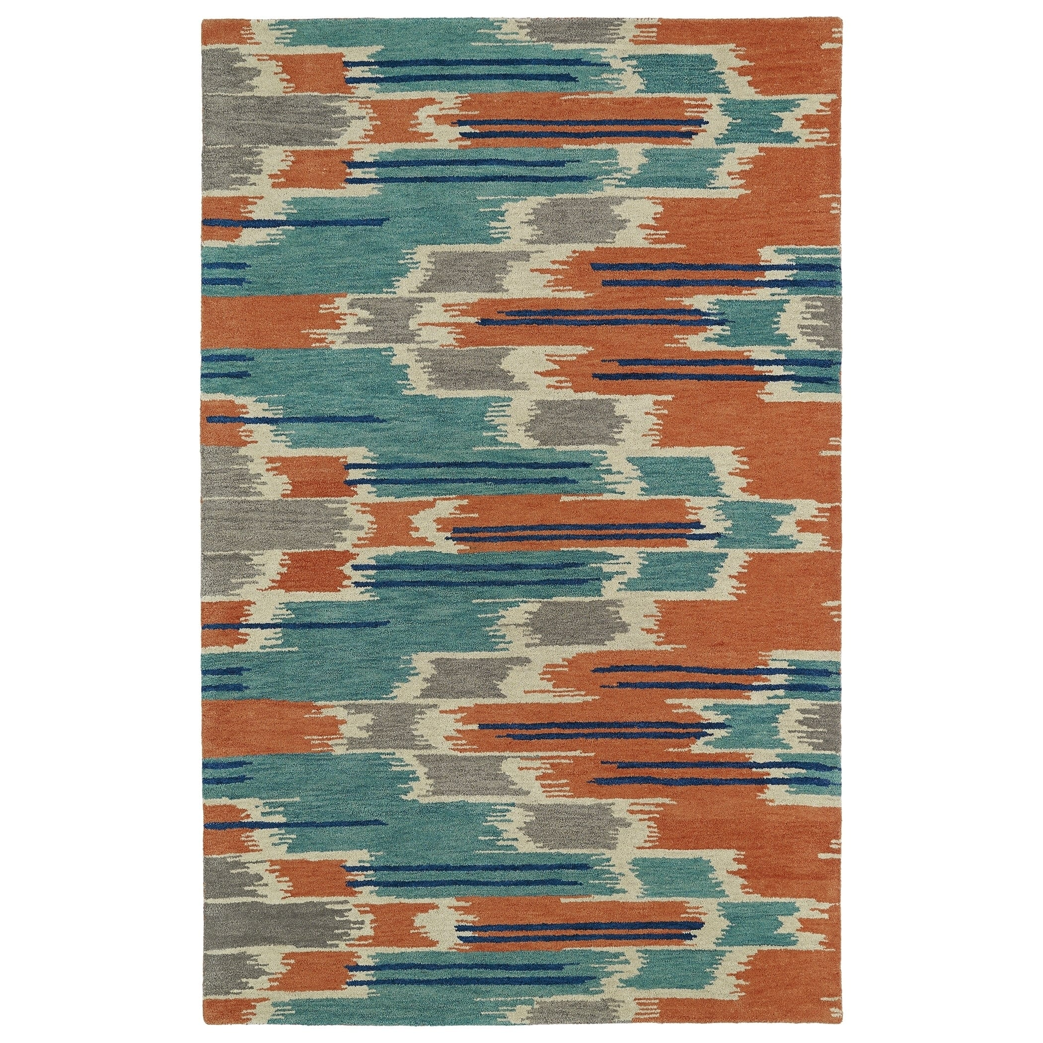 Hand Tufted De Leon Ikat Multi Area Rug