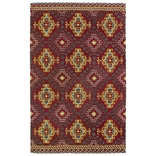Hand-tufted de Leon Tribal Red Rug (3'6 x 5'6)