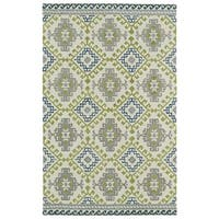 Hand-tufted de Leon Tribal Ivory Rug - 9' x 12'