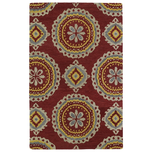 Hand-tufted de Leon Red Rug (8' x 10')