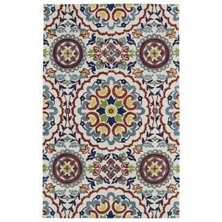 Hand-tufted de Leon Suzani Ivory Rug (8' x 10')