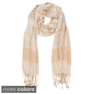 In-Sattva Colors Two-tone Horizontal Stripes Scarf Stole (India)