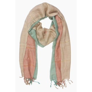 In-Sattva Colors Vertical and Horizontal Stripe Colorblock Scarf (India)