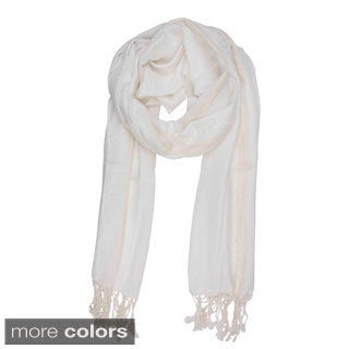 In-Sattva Colors Decorative Border Scarf Stole Wrap (India)