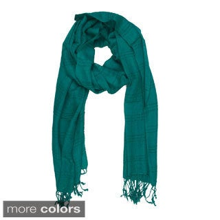 In-Sattva Colors Woven Checkered Print Scarf (India)