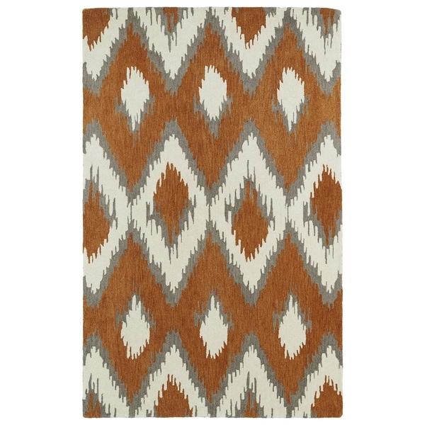 Hand-tufted de Leon Ikat Paprika Rug (8' x 10')