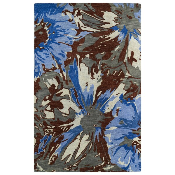 "Hand-tufted Artworks Multi Floral Rug (3'6 x 5'6) - 3'6"" x 5'6"""