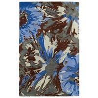Hand-tufted Artworks Multi Floral Rug - 3'6 x 5'6