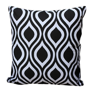 Auburn Textiles Cotton Modern Black/ White Printed Throw Pillow Cover