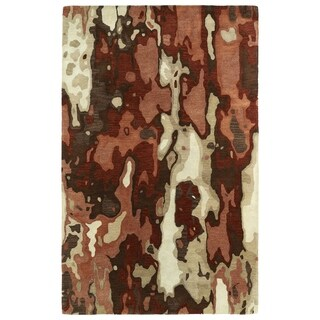 Hand-tufted Artworks Rust Watercolor Rug (5' x 7'9)