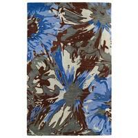 Hand-tufted Artworks Multi Floral Rug (9'6 x 13')