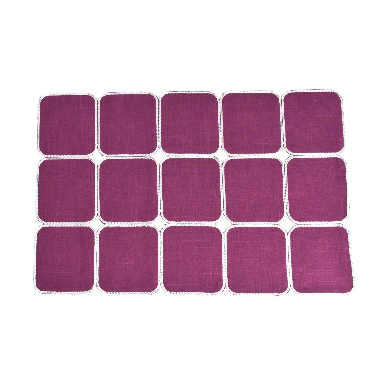 Saro Square Design Placemat (set of 4) (Rouge), Pink