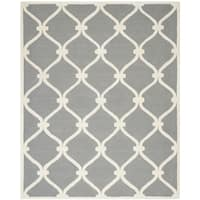 Safavieh Handmade Cambridge Dark Grey/ Ivory Wool Rug - 10' x 14'