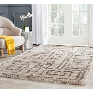 Safavieh Belize Shag Taupe/ Grey Area Rug (5'1 x 7'6)