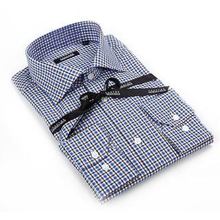 Georges Rech Men's Multicolored Check Button-down Dress Shirt
