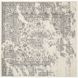 Safavieh Adirondack Vintage Distressed Ivory / Silver Rug (4' Square)