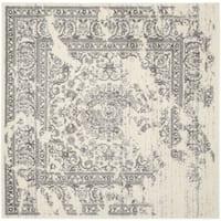 Safavieh Adirondack Sierra Ivory / Silver Distressed Rug - 4' x 4' Square