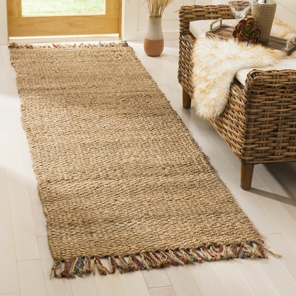 Safavieh Casual Natural Fiber Hand-Woven Natural/ Multi Jute Rug (2'6 x 8')