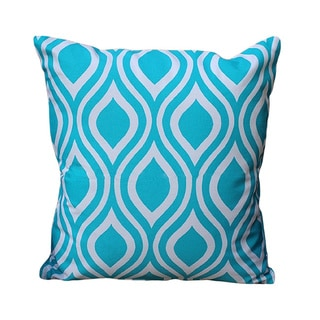 Auburn Textiles Blue/ White Cotton Cover Printed Pillow