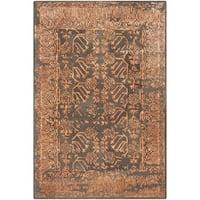 Safavieh Handmade Sapphire Light Brown/ Rust Wool/ Viscose Rug - 4' x 6'