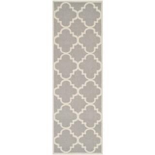 Safavieh Handmade Flatweave Dhurries Grey Ivory Wool Rug