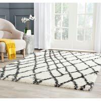 """Safavieh Belize Shag Ivory/ Charcoal Moroccan Area Rug - 5'3"""" x 7'6"""""""