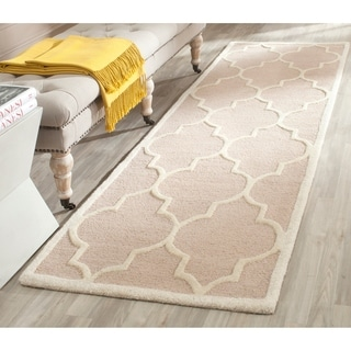 Safavieh Handmade Cambridge Beige/ Ivory Wool Rug (2'6 x 14')