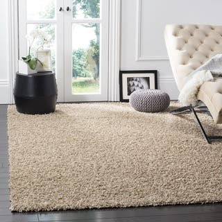 shaggy rugs for living room. Safavieh Athens Shag Beige Area Rug  8 x Rugs For Less Overstock com