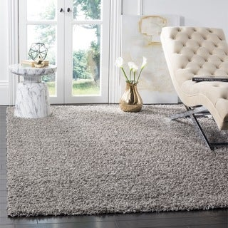 Safavieh Athens Light Grey Shag Rug (5'1 x 7'6)