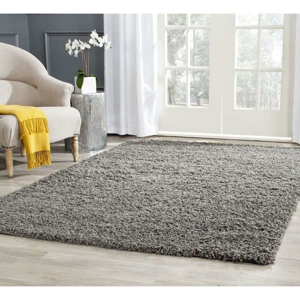 Safavieh Athens Shag Dark Grey Area Rug - 8' x 10'