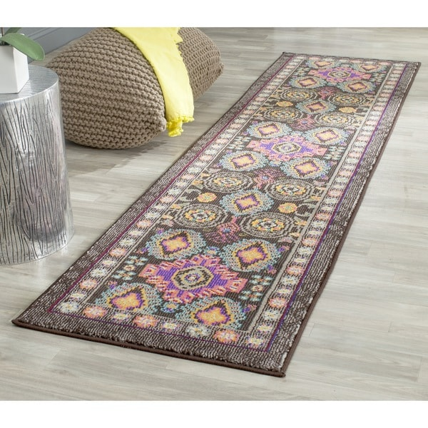 Safavieh Monaco Bohemian Brown/ Multicolored Rug (2'2 x 8') - 2'2 x 8'