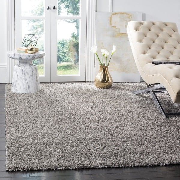 Safavieh Athens Light Grey Shag Rug - 8' x 10'