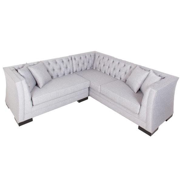 Shop Inncdesign Casanova Light Grey Sectional Sofa Free