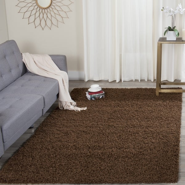 Safavieh Athens Shag Brown Area Rug (8' x 10')