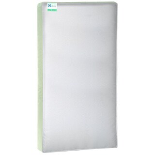 Sealy Cozy Cool 2-stage Coil and Gel Crib Mattress - White