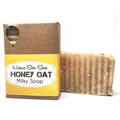 Handmade Honey Oat And Goat Milk Luxurious Cold Process Bar Soap