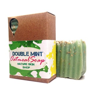 Double Mint Oatmeal Natural Soap