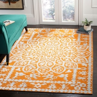 Safavieh Hand-knotted Stone Wash Copper Wool Rug (9' x 12')
