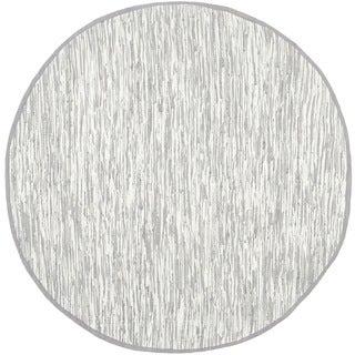 Safavieh Hand-woven Montauk Silver Cotton Rug (4' Round)