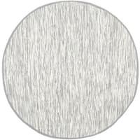 Safavieh Hand-woven Montauk Silver Cotton Rug - 4' Round