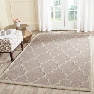 Safavieh Handmade Cambridge Beige/ Ivory Wool Rug (12' x 18')