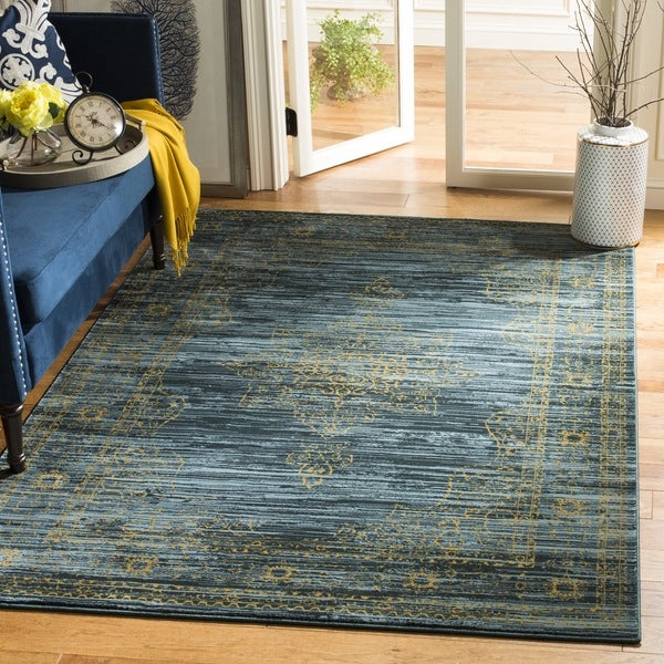 Shop Safavieh Serenity Turquoise Gold Rug 8 X 10 On