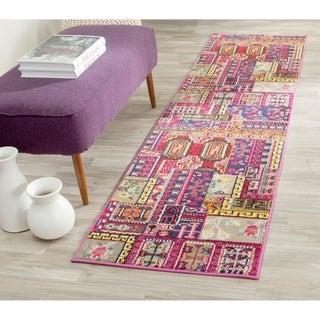 Safavieh Monaco Pink/ Multi Rug (2'2 x 8')