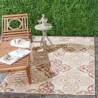 Safavieh Indoor/ Outdoor Havana Natural/ Multi Rug (5'1 x 7'7)