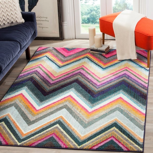 Safavieh Monaco Bohemian Chevron Multicolored Rug - multi - 5'1 x 7'7